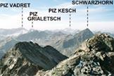 Via Normale Fl�ela-Wisshorn - Panorama dalla vetta del Fl�ela-Wisshorn, verso S