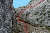 Via Normale Piz Meda - Rampa rocciosa a metà canale