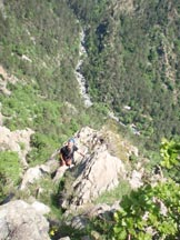 Via Normale Bric Camulà - Via dei Geki - Prime lunghezze, immersi in ambiente selvaggio
