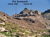 Via Normale Piz Surpar� - In salita nel vallone