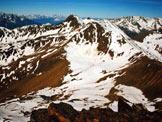 Via Normale Monte Redival - Panorama dalla vetta verso SW, in basso i laghetti