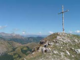 Via Normale Monte Prana - Croce di vetta del Monte Prana
