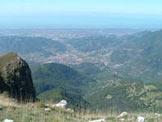 Via Normale Monte Prana - Panorama dal Monte Prana, quota 1221 m, Camaiore e Lido di Camaiore