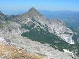 Via Normale Monte Tambura - Dal Monte Tambura vista del Monte Pisanino