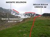 Via Normale Monte Seleron - L'itinerario da sopra la Casera di Gerlo, nell'anfiteatro