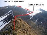 Via Normale Monte Seleron - L�itinerario dalla cresta W del Monte Seleron