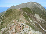 Via Normale Camogh� - Sulla cresta fra il Monte Segor e il Camogh�