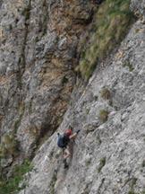 Via Normale Monte Gramolon - Via ferrata Viali-Ferrari - Attacco della Via ferrata Ferrari