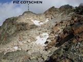 Via Normale Piz Cotschen - Immagine ripresa dall'intaglio sulla cresta, vicino alla (q. 2985 m)