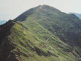 Via Normale Motto della Tappa - La mulattiera sul versante W del Motto della Tappa