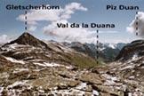 Via Normale Piz dal Märc - Immagine ripresa dalla vetta del Piz dal Märc