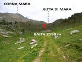Via Normale Corna Mara - In località Zocche, la baita (q. 2150 m)