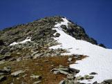 Via Normale Corna Mara - La parte finale della cresta E