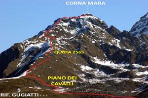 Via Normale Corna Mara - cresta W