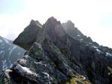 Via Normale Corna Mara - cresta W - Sulla cresta W