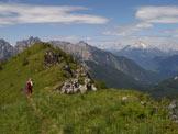 Via Normale Monte Simon - Sulla cresta sommitale