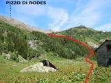 Via Normale Pizzo di Rodes - Immagine ripresa dalle Baite Caronno (q. 1610 m)