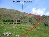 Via Normale Pizzo di Rodes - Dal pianoro, l'accesso al costone centrale
