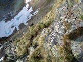 Via Normale Pizzo di Rodes (cresta WNW) - La cresta esposta sopra il lago di Rodes