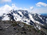 Via Normale Pizzo di Rodes (cresta WNW) - Panorama di vetta, al centro la Punta di Scais e il Pizzo di Redorta