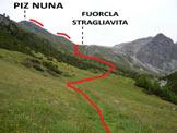 Via Normale Piz Nuna - L'itinerario dall'Alp Laschadura (q. 2000 m)