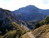 Via Normale Monte i Porcini - Veduta sul Terminillo lungo la salita