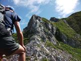 Via Normale Monte Cavallo - In salita lungo la cresta