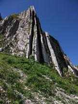 Via Normale Monte Cavallo - Formazione rocciosa denominata canne d´organo
