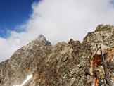 Via Normale Piz Julier (o Piz Guglia) - La cima Est dalla cresta