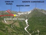 Via Normale Cima di Paina - L'itinerario dall'Alpe Càmedo