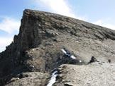 Via Normale Piz Beverin - In discesa sulla cresta SW