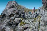 Via Normale Sass Ciapel - La rampa rocciosa