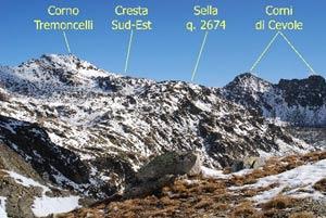 Via Normale Corno Tremoncelli - Cresta SE