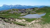Via Normale Cima della Laghetta - Anticima N (da E) - Il laghetto stagionale di q. 2309 m