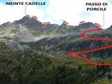 Via Normale Monte Cadelle - Cresta SW - Il percorso di salita da WNW