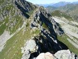 Via Normale Monte Cadelle - Cresta SW - Il primo tratto aereo della cresta, appena superato
