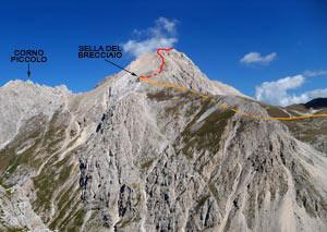 Via Normale Corno Grande - Vetta Occidentale (cresta W)
