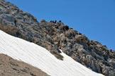 Via Normale Corno Grande - Vetta Occidentale (cresta W) - Il tratto iniziale della cresta