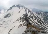 Via Normale Monte Tartaro - La cresta S, verso il M. Meta
