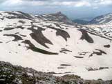 Via Normale Monte Tartaro - La piana del Biscurri, sul versante abbruzzese