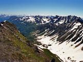 Via Normale Nufenenstock - In basso il vallone (Val Corno) di salita, dalla vetta