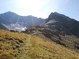Via Normale Punta del Segnale - Cresta N - La Cresta Nord dal primo tratto erboso.