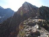 Via Normale Punta del Segnale - Cresta N - Sul filo di cresta, poco prima dell´anticima.