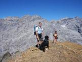 Via Normale Monte Forcellino - Via Normale da E - In cima. Sullo sfondo Cime di Campo, Trafoier e Thurwieser.