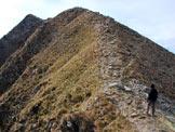 Via Normale Monte Storile - Via Normale da E - L´ultimo tratto di cresta.