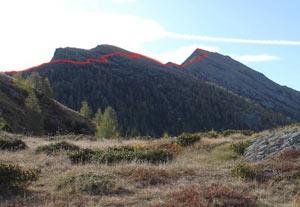 Via Normale Monte Storile - Via Normale da W