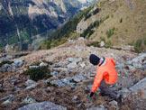 Via Normale Monte Storile - Via Normale da W - Scendendo dalla cima.