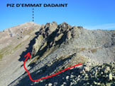 Via Normale Piz d´Emmat Dadaint - L'itinerario di salita dalla Fuorcla Grevasalvas