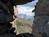 Via Normale Gronton - Via Attrezzata - Feritoia nelle vicinanze della cima.