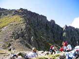Via Normale Gronton - Via Normale - Alla Forcella di Bocche con la cima del Gronton.